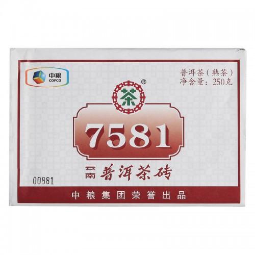 """Чжун Ча """"Кирпич 7581"""" Шу Пуэр 250г"""